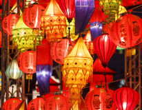 Indian lanters(yellow) and chinese lanterns Royalty Free Stock Image