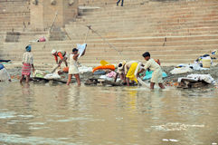 Indian Laundry in Varanasi Stock Photo