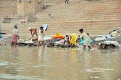Indian Laundry in Varanasi stock photo