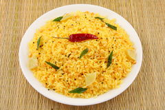Indian lemon rice. Royalty Free Stock Image