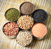 Indian lentils and beans Royalty Free Stock Photography