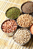 Indian lentils and beans Royalty Free Stock Photo