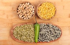 Indian lentils Stock Image