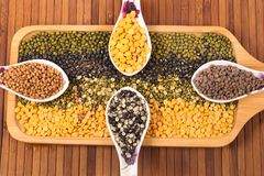 Indian lentils Stock Images