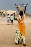 Indian life on the beach Stock Photos