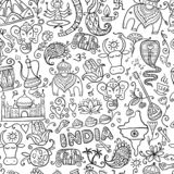 Indian lifestyle. Seamless pattern for your design stock images