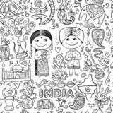 Indian lifestyle. Sketch for your design royalty free stock photos