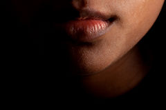 Indian lips face royalty free stock images