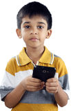 Indian Little Boy With Cellphone Royalty Free Stock Image