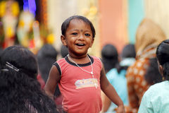 Indian little boy with rosary Stock Photos