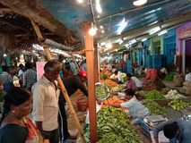 Indian local market stock photography