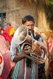Indian local village marriage band performer Royalty Free Stock Images