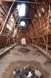 Indian longhouse interior Royalty Free Stock Photo