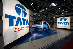 Indian lowcost car maker tata Stock Image