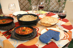 Indian lunch Royalty Free Stock Photography