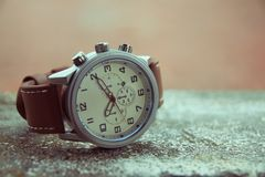 Men`s Classic Wristwatch Royalty Free Stock Images