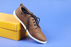 Indian made Men`s Shoes Stock Photography