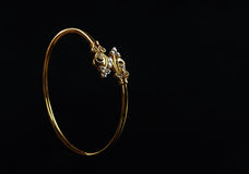 Indian Made Wedding gold bracelets Royalty Free Stock Photo