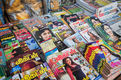 Indian magazines in Little India, Singapore Stock Photo
