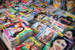 Indian magazines Royalty Free Stock Photography