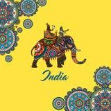 Indian maharaja sitting on elephant Stock Photography