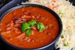Indian Main course-Rajma Chawal. Indian Main course Punjabi meal-Rajma Chawal royalty free stock photography