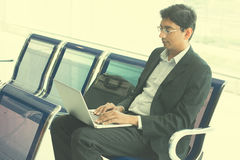 Indian male business man working Royalty Free Stock Photography