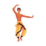 Indian male dancer in traditional harem pants, Bollywood performer Stock Image