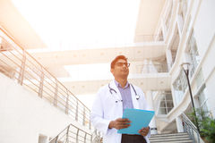 Indian male doctor Stock Image