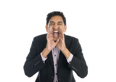 Indian male shouting Royalty Free Stock Images