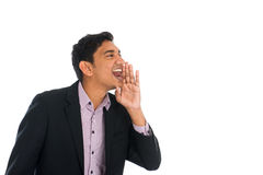 Indian male shouting Royalty Free Stock Photo