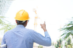 Indian male site construction contractor Stock Image