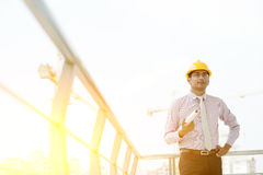 Indian male site contractor engineer portrait Stock Image
