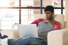 Indian male teenager Stock Photo
