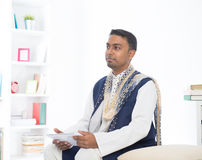 Indian male with tradtional dresss Stock Images