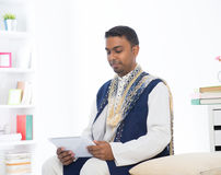Indian male with tradtional dresss Royalty Free Stock Images