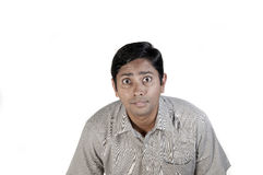 Indian Man. A very excited indian man Stock Image