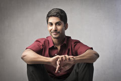 Indian man. Portrait of a smiling indian young man Stock Image