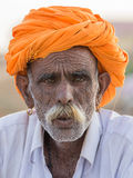 Indian man attended the annual Pushkar Camel Mela. Stock Photos