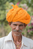 Indian man attended the Pushkar Camel Mela Stock Image