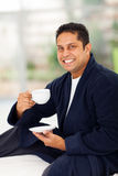 Indian man coffee Royalty Free Stock Photography