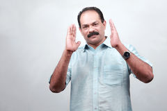 Indian man with a conversation gesture Royalty Free Stock Photography