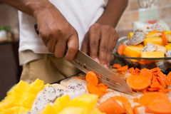 Indian man cooking dinner royalty free stock image