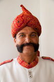 Indian man with handlebar moustache Royalty Free Stock Photography