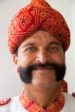 Indian man with handlebar moustache Royalty Free Stock Image