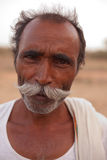 Indian man with handlebar moustache Stock Photography