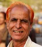 Indian Man. JAIPUR, INDIA, MARCH 4: An unidentified man outside the City Palace on March 4, 2012 ahead of the annual Holi Festival in Jaipur, Rajasthan, Northern Royalty Free Stock Photography