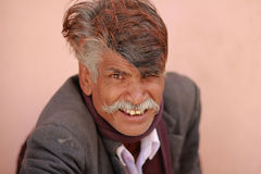 Indian Man. NIMAJ BAGH, INDIA, FEBRUARY 28: An unidentified man inside the village of Nimaj Bagh, Rajasthan, Northern India on FEBRUARY 28, 2012. The village has Stock Image