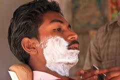 Indian Man. NIMAJ BAGH, INDIA, FEBRUARY 28: An unidentified man inside the village of Nimaj Bagh, Rajasthan, Northern India on FEBRUARY 28, 2012. The village has Royalty Free Stock Photos