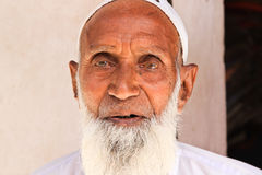 Indian Man. NIMAJ BAGH, INDIA, FEBRUARY 28: An unidentified man inside the village of Nimaj Bagh, Rajasthan, Northern India on FEBRUARY 28, 2012. The village has Stock Photos